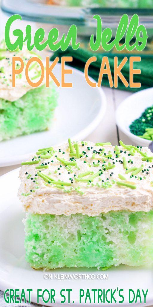 St. Patrick's Day Jello Poke Cake