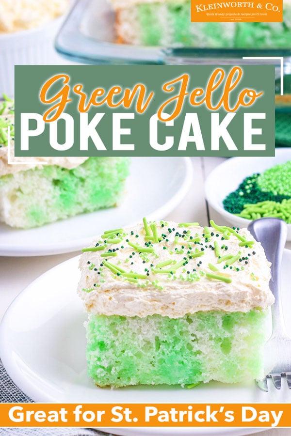 Spring Jello Poke Cake