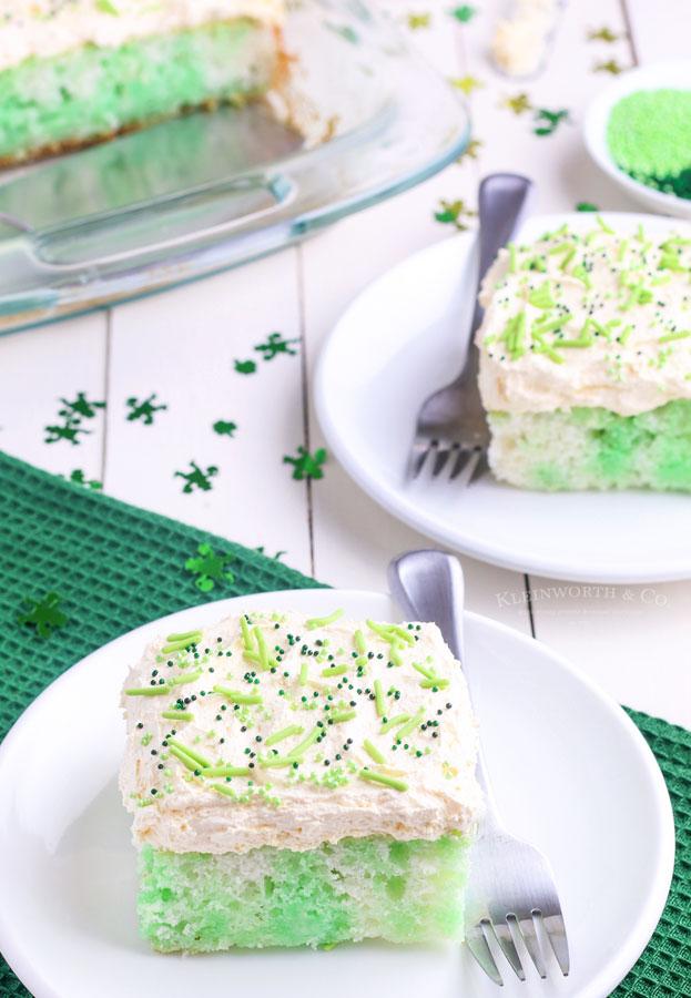 green jello cake