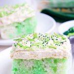 Green Cake with Jello