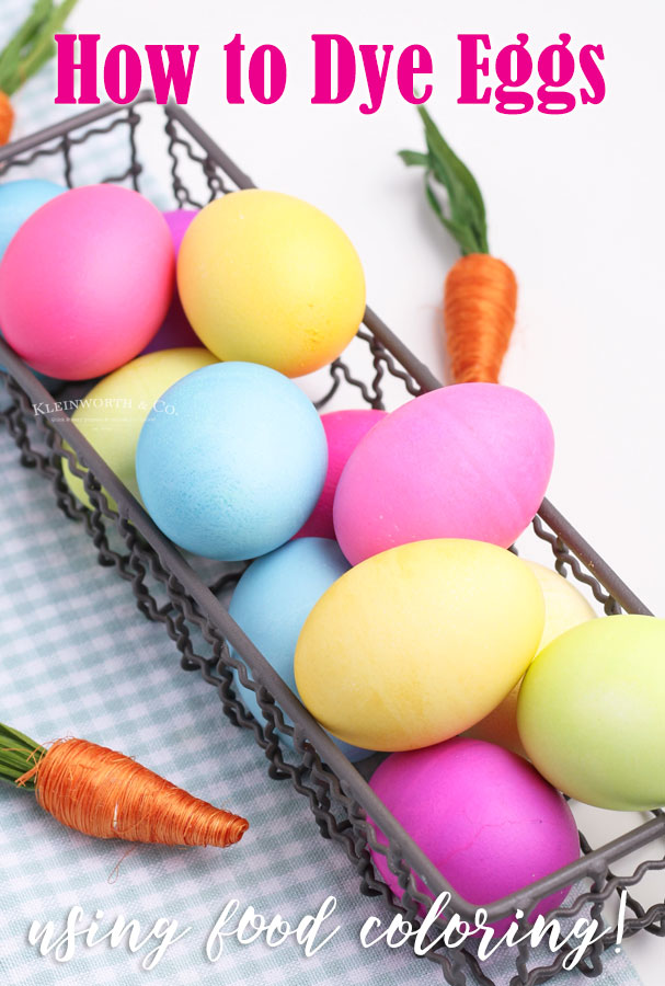 How to Dye Eggs