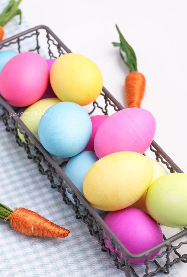 how to dye easter eggs without a kit