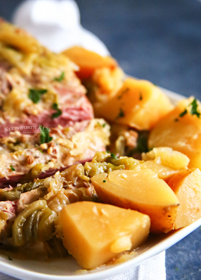 Corned Beef , Cabbage and Potatoes