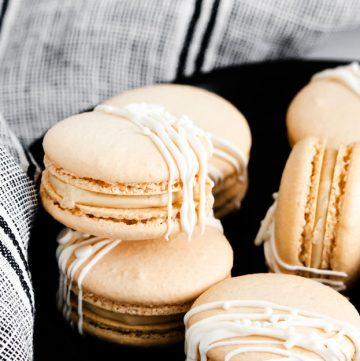 Irish Cream Macaron cookies
