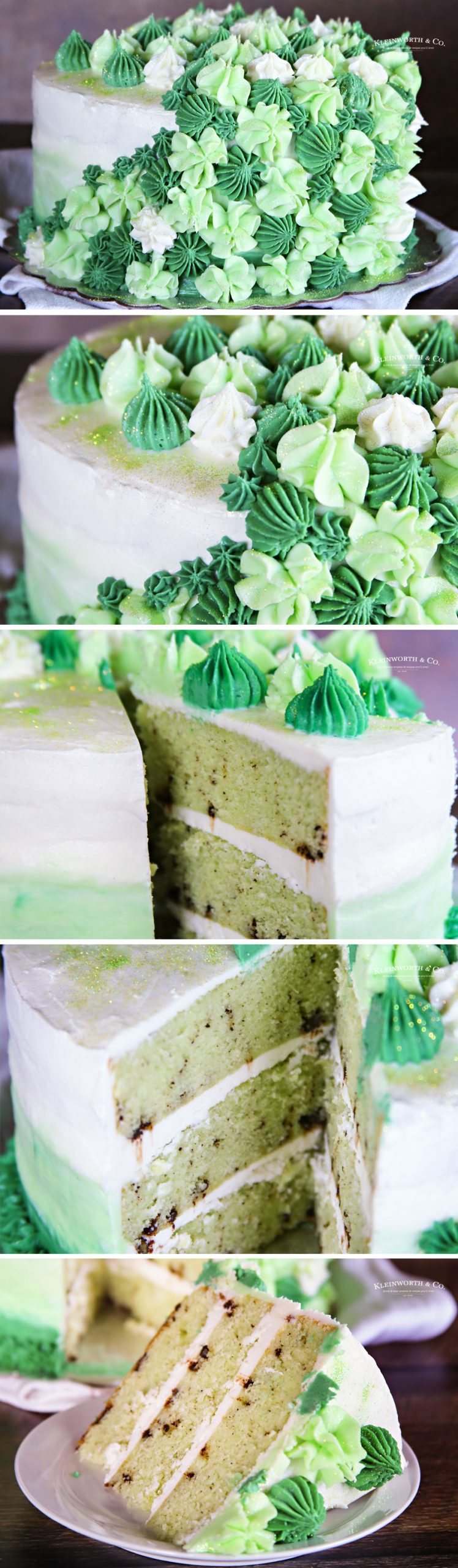 how to make Mint Chocolate Chip Cake