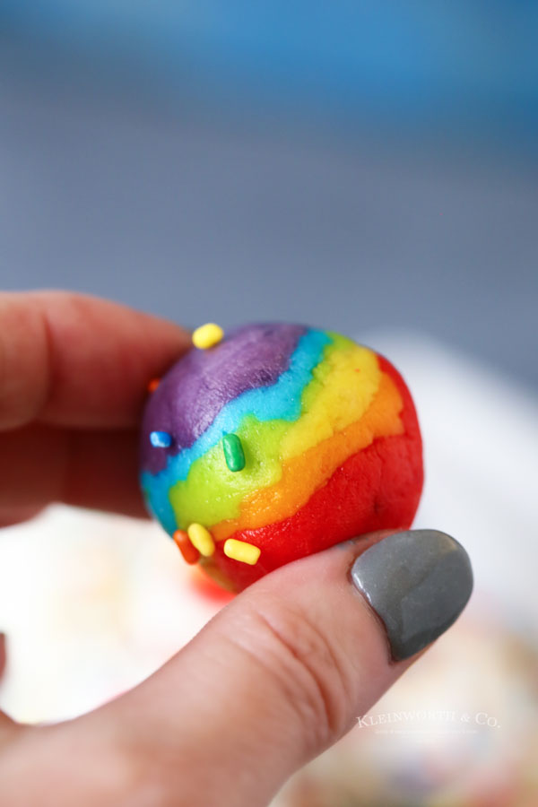 inside rainbow truffles