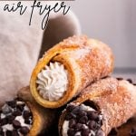 Air Fryer Churro Cannoli