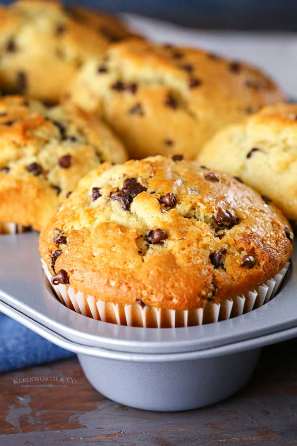 homemade Bakery-Style Chocolate Chip Muffins