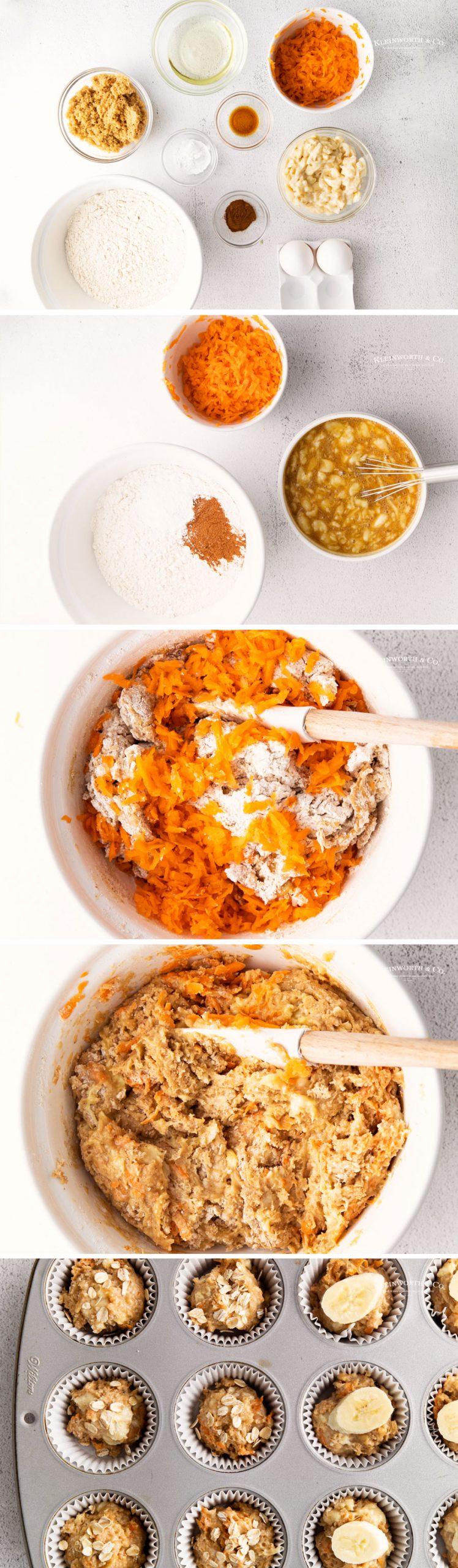 how to make Banana Carrot Muffins
