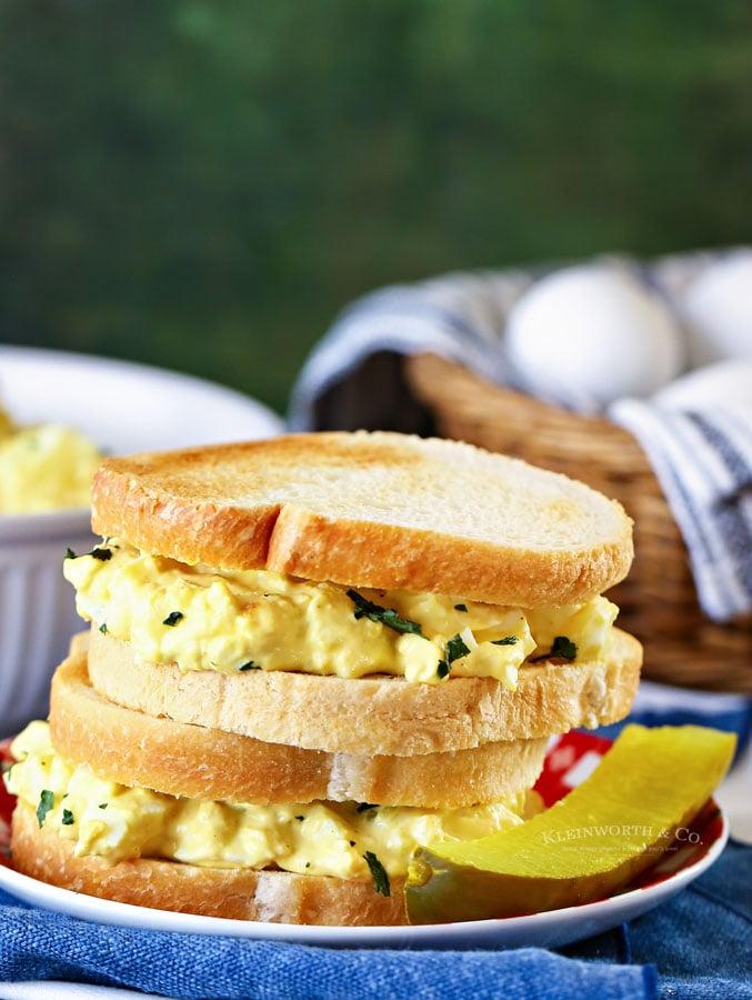 egg salad on sourdough