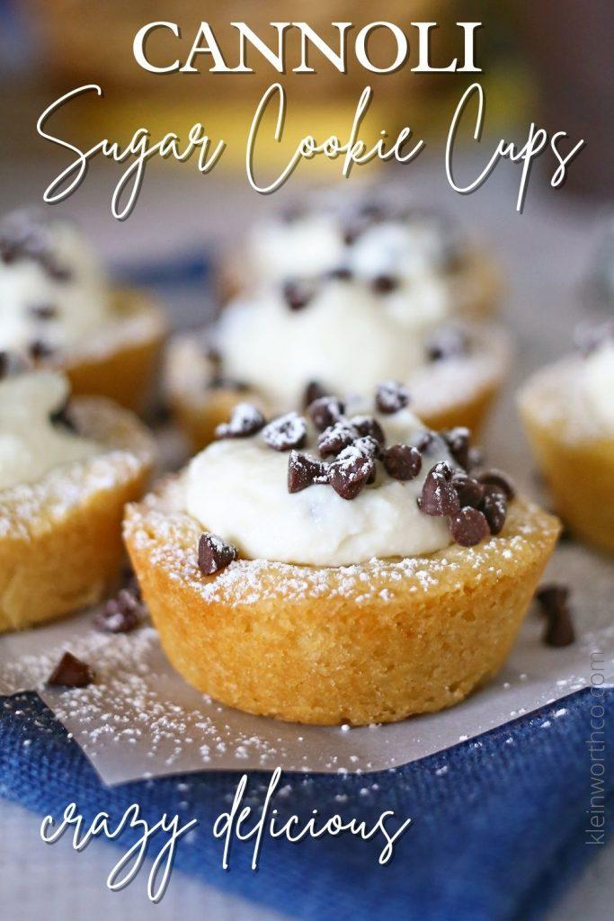 Cannoli Sugar Cookie Cups
