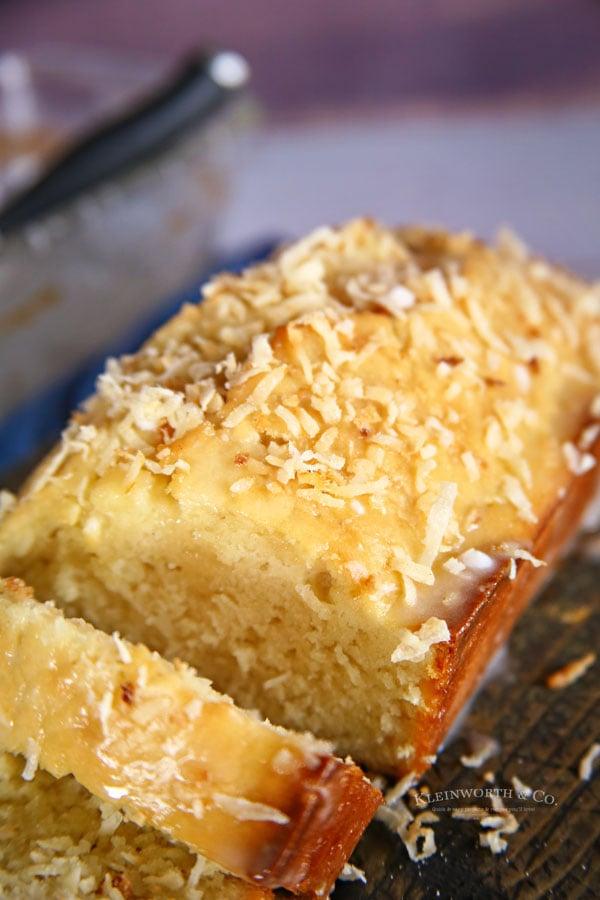 glazed coconut bread