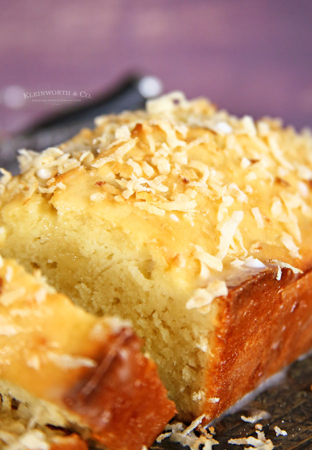 toasted coconut on coconut bread