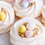 Easter Egg Meringue Nests