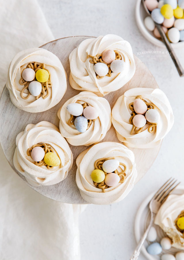 holiday Meringue Nests