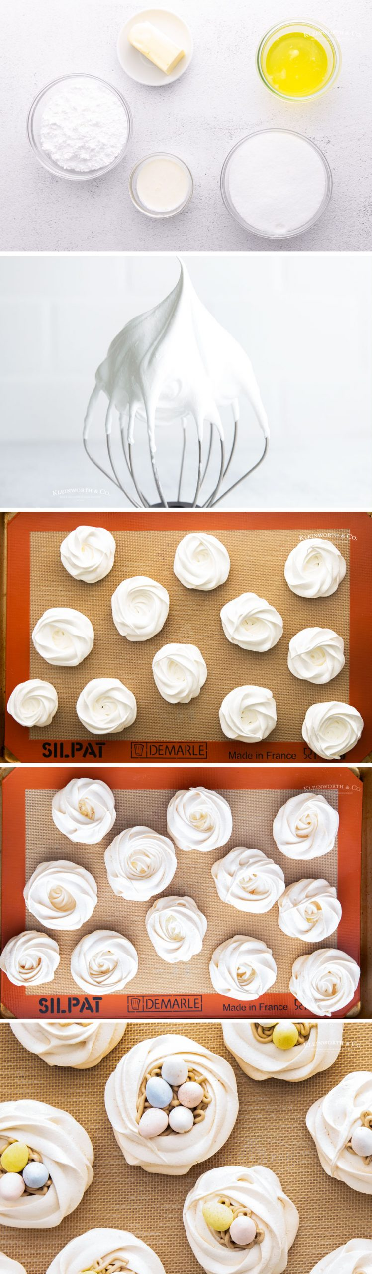 how to make Easter Egg Meringue Nests