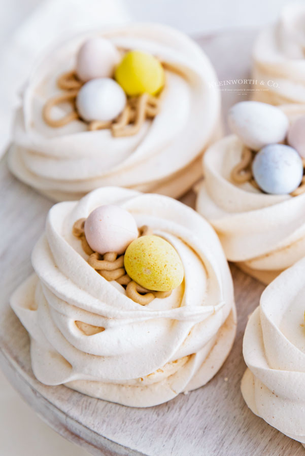mini egg nests meringue