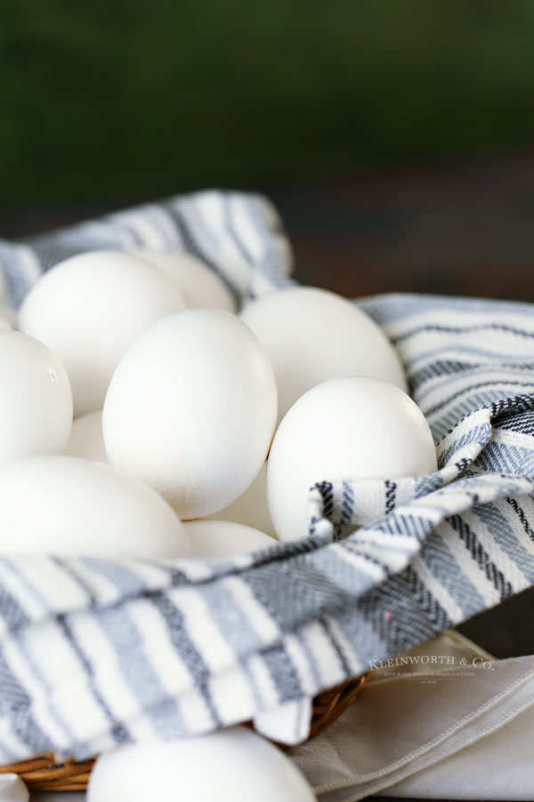 eggs for dying