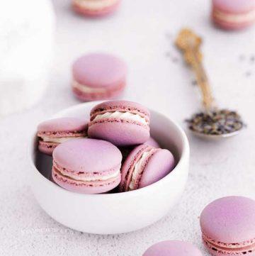 homemade Lavender Macarons