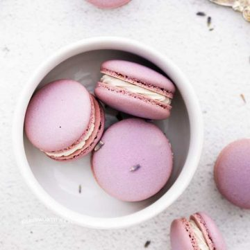 recipe for Lavender Macarons