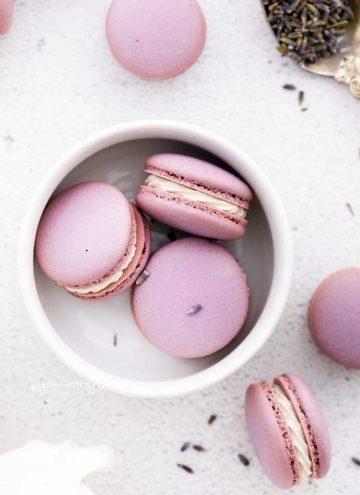 recipe for Lavender Macarons