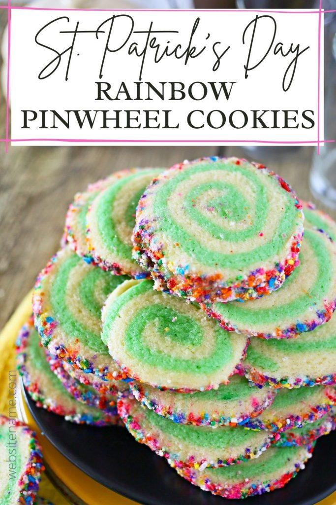 Rainbow Pinwheel Cookies