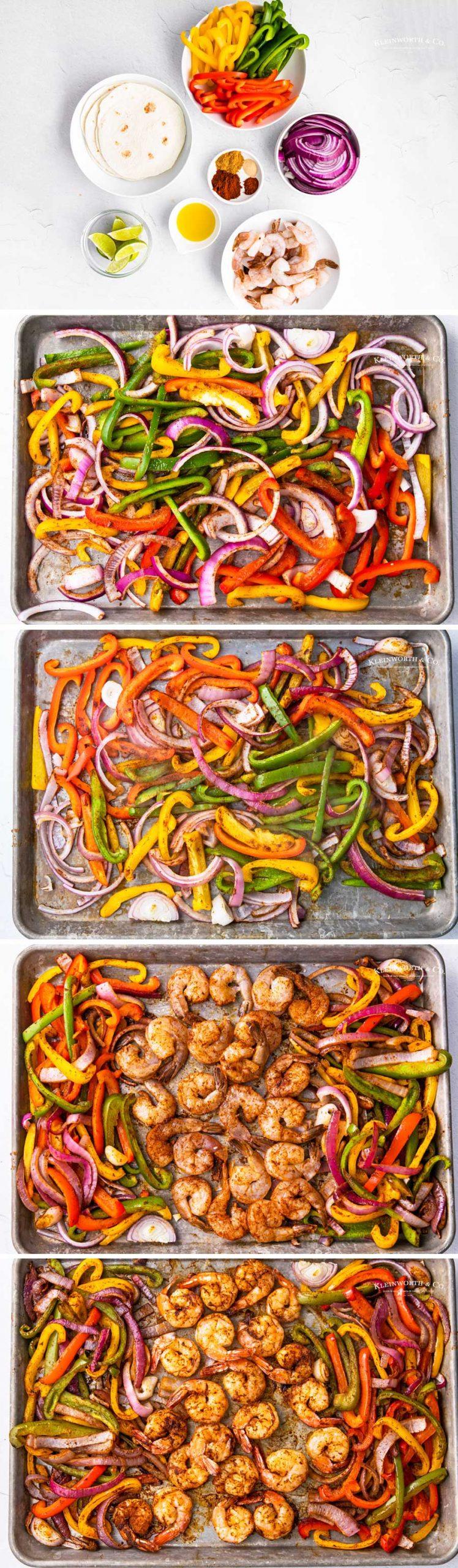 how to make Sheet Pan Shrimp Fajitas