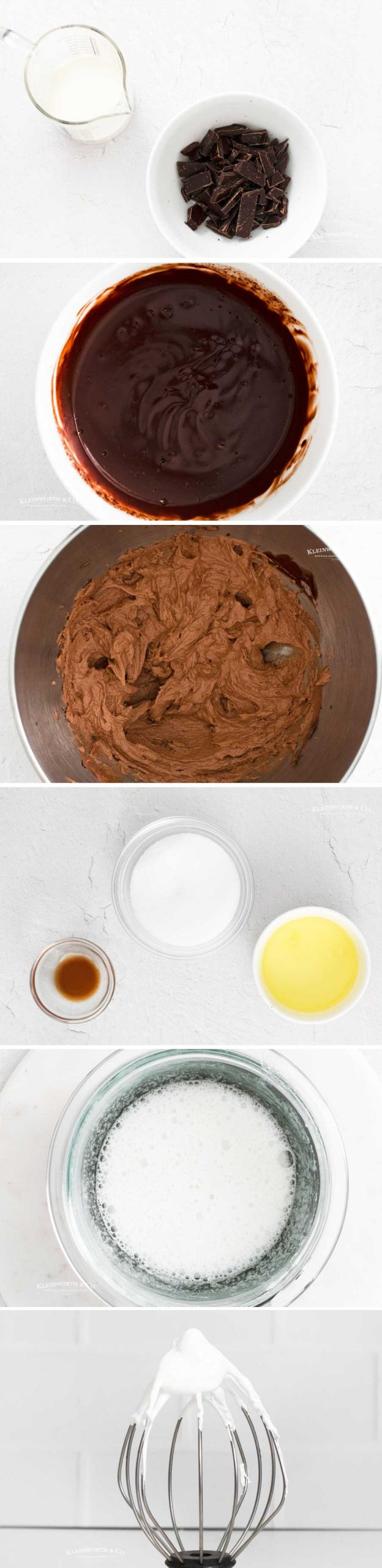 how to make chocolate frosting and marshmallow meringue
