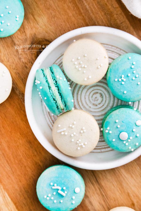 turquoise cookies