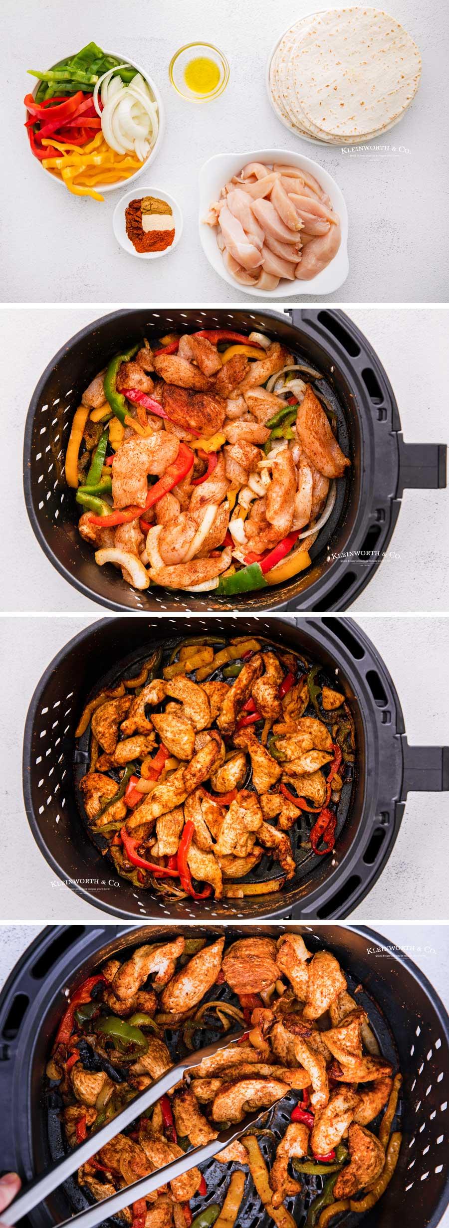 how to make Air Fryer Chicken Fajitas