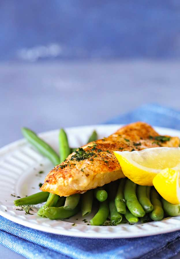 cod dinner - air fried
