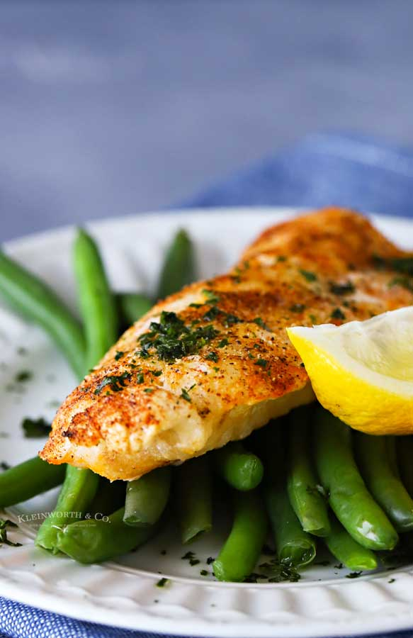 cod filets - air fried
