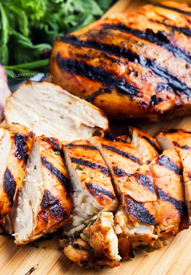 marinated cooked chicken