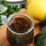 jar of marinade for chicken