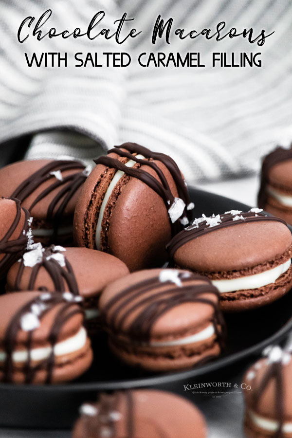 Chocolate Macarons with Salted Caramel Filling