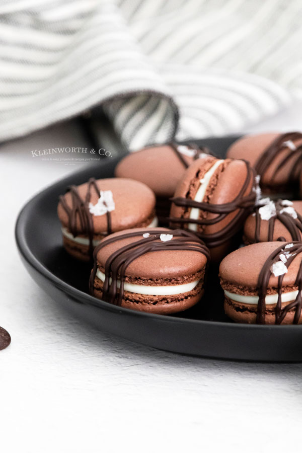 cocoa macarons