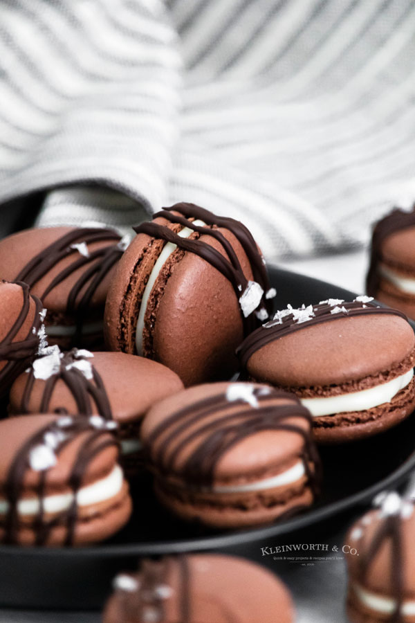 recipe for Chocolate Macarons