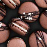 macaron cookies - chocolate salted caramel