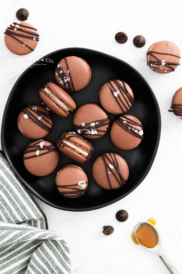 recipe for Chocolate Macarons