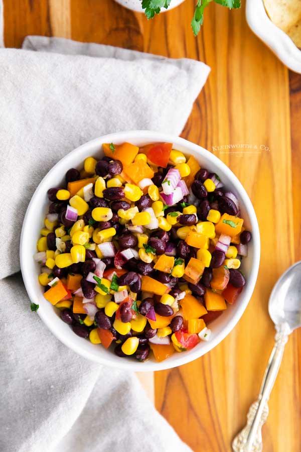 recipe for Corn and Black Bean Salsa