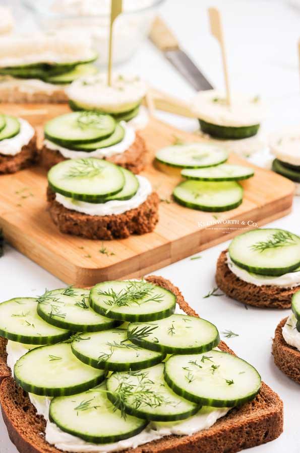 cucumber on bread