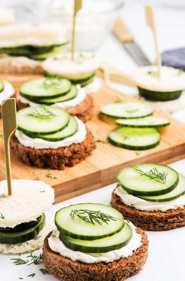 tea sandwiches cucumber