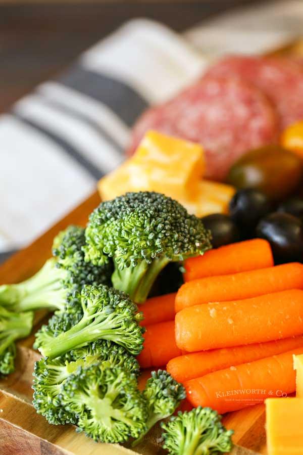 broccoli on snack board