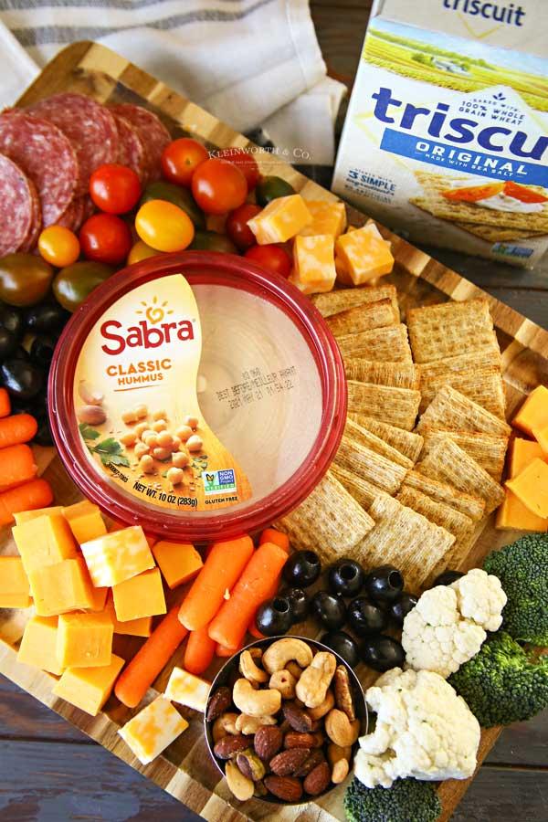 sabra classic on appetizer board