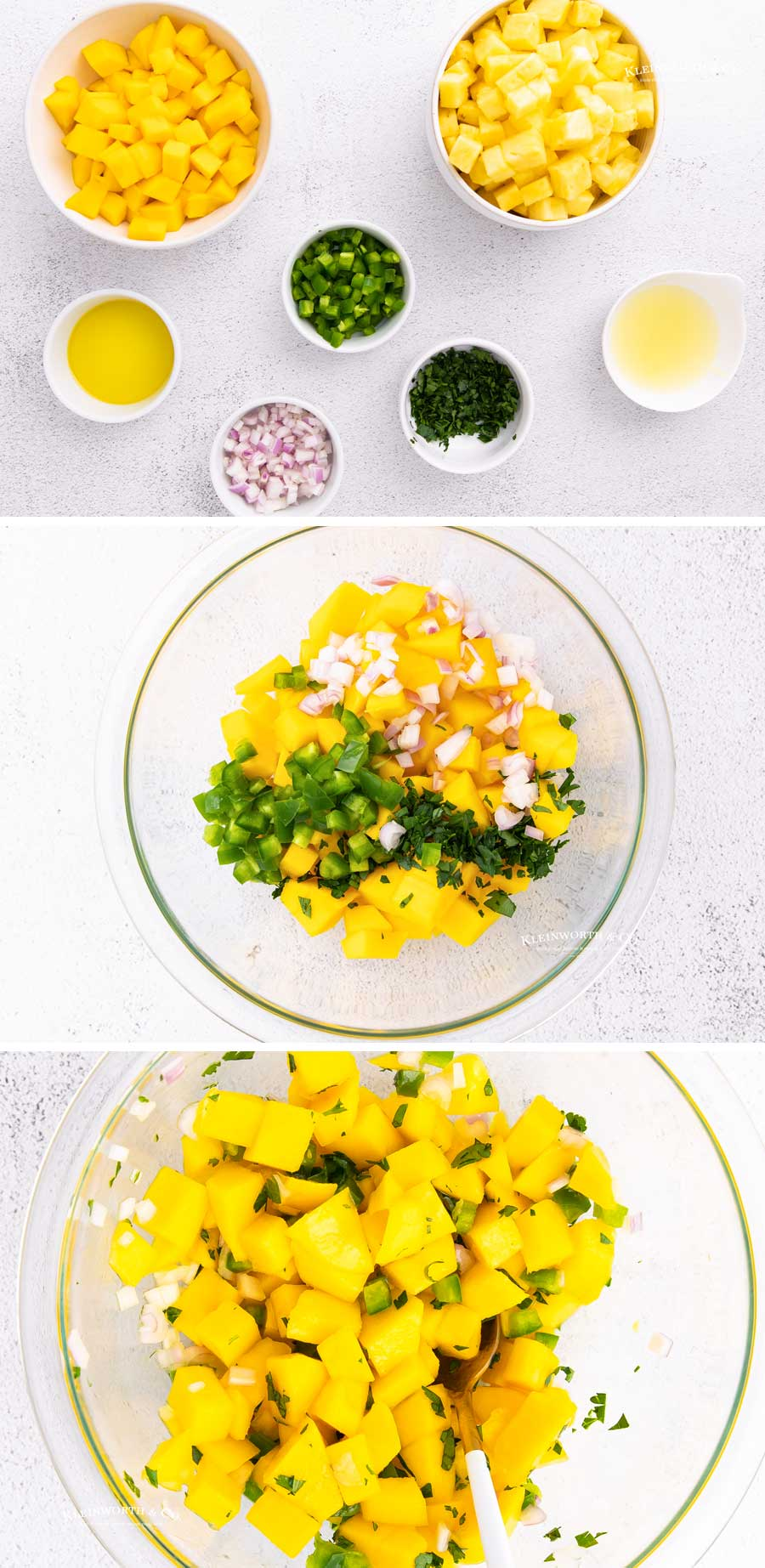 how to make Pineapple Salsa / Mango Salsa