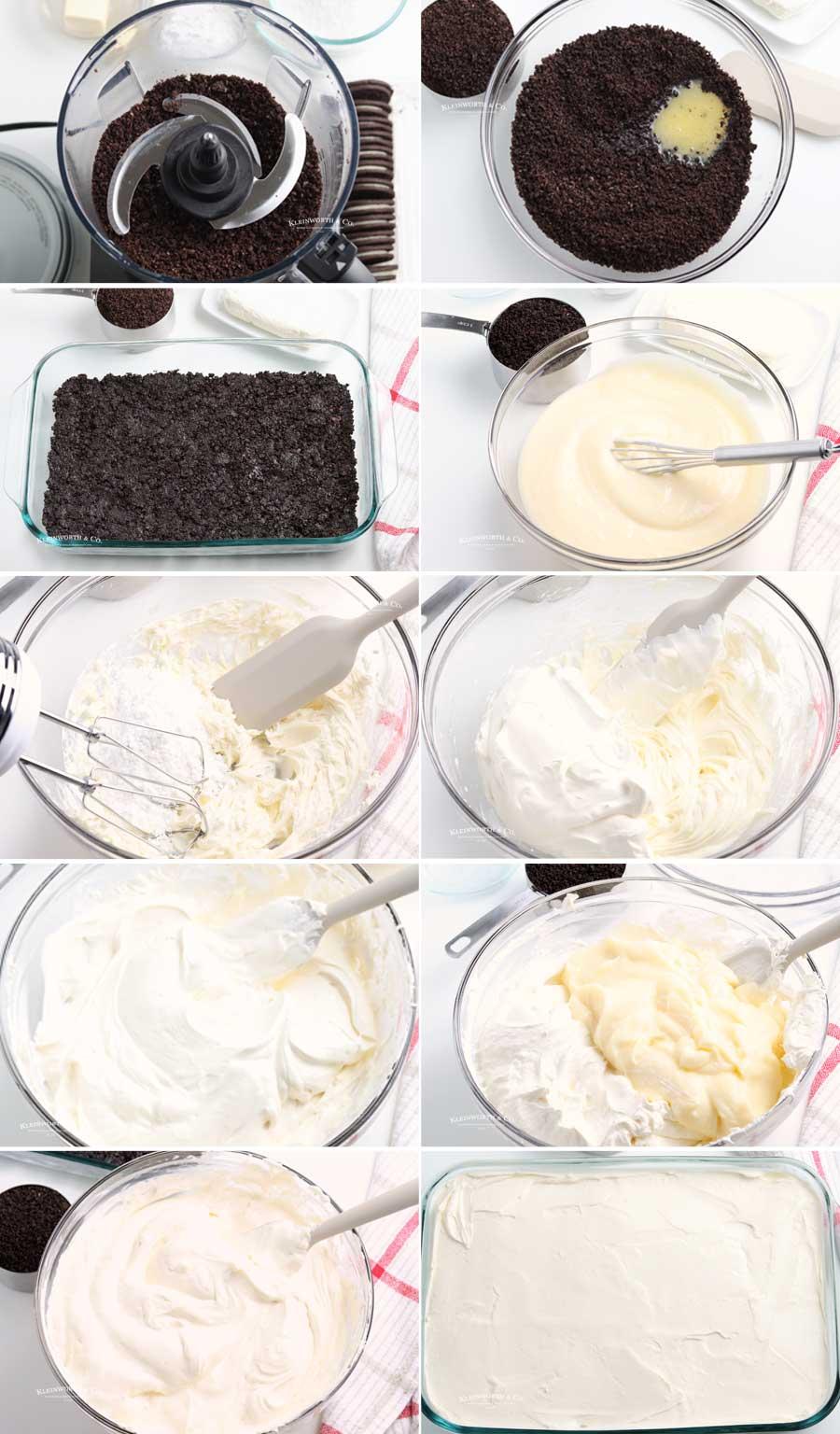 how to make Oreo Dirt Cake Recipe