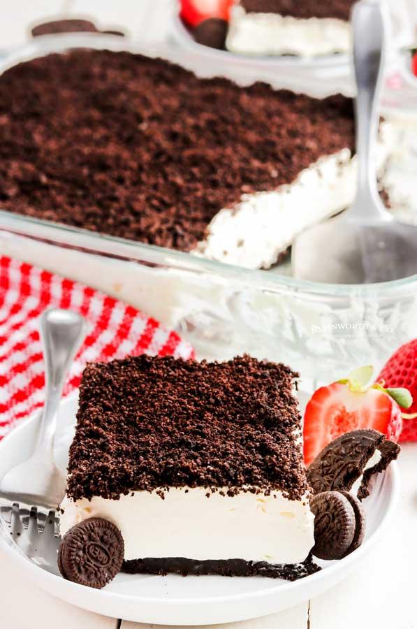 no bake dessert cake Oreo