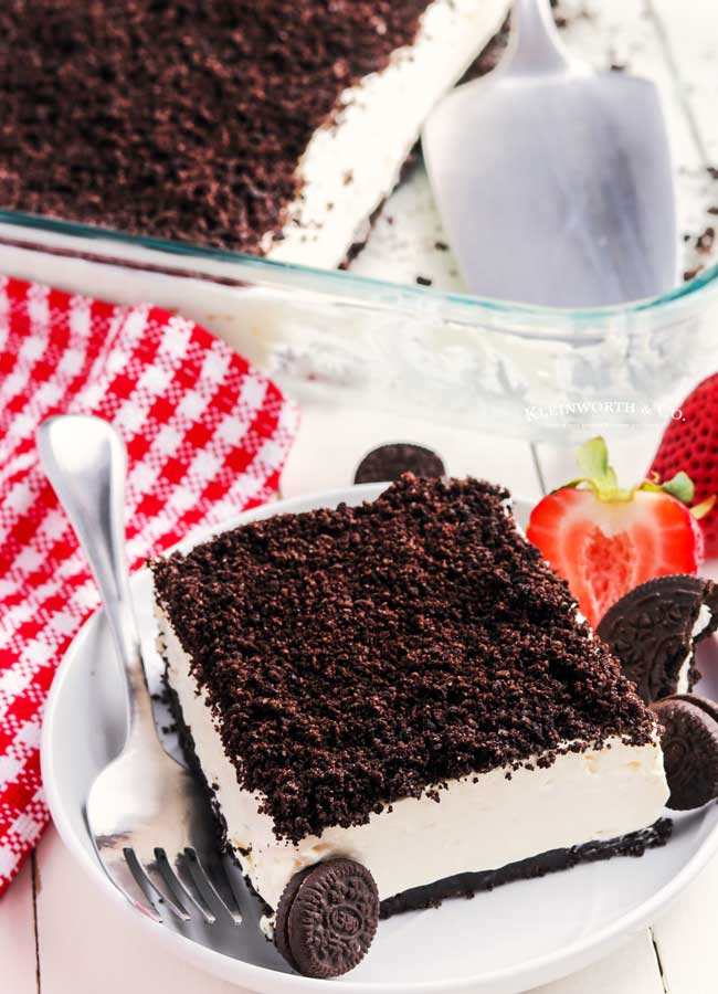 no bake dirt cake