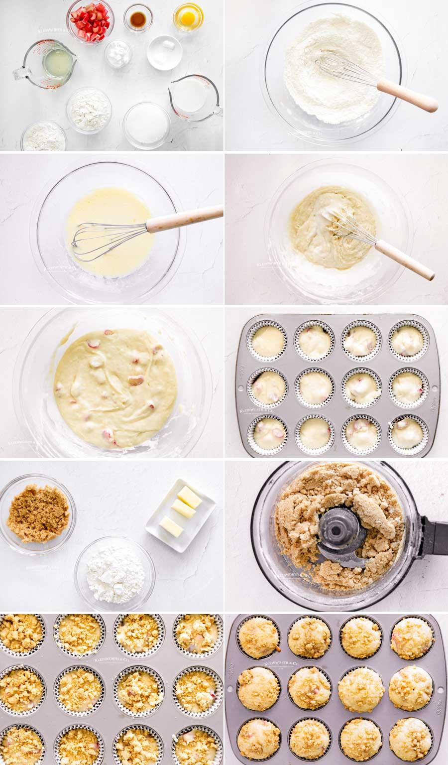 how to make Rhubarb Muffins