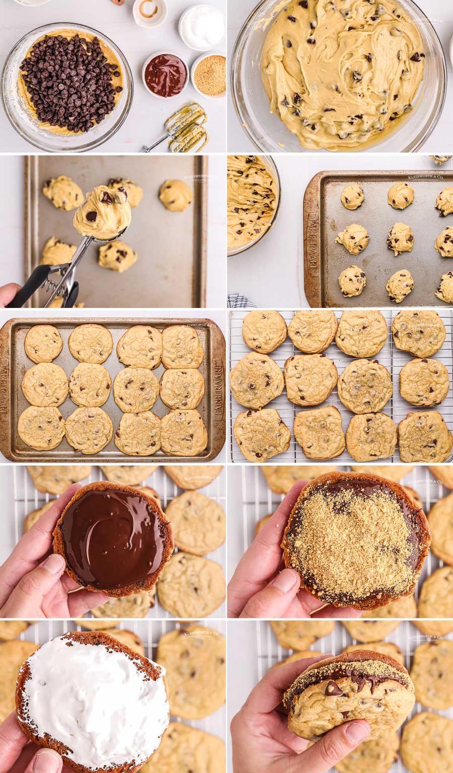 how to put together smores cookies